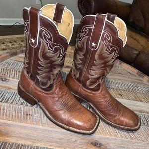 Tony Lama Smooth Ostrich Western Cowboy Boot 8.5